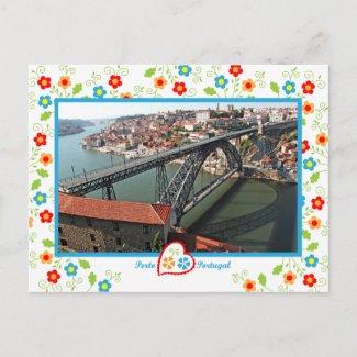 Portugal in photos - Oporto D.Luís bridge zazzle_postcard
