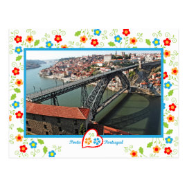 Portugal in photos - Oporto D.Luís bridge Postcard