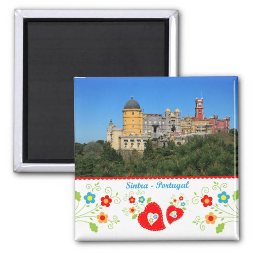 Portugal in photos - Sintra 2 Inch Square Magnet