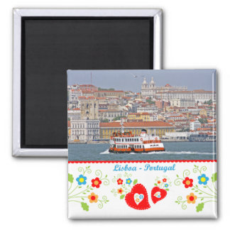 Portugal in photos - The city of Lisbon 2 Inch Square Magnet