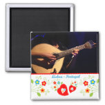 Portugal in photos - The Portuguese guitar 2 Inch Square Magnet