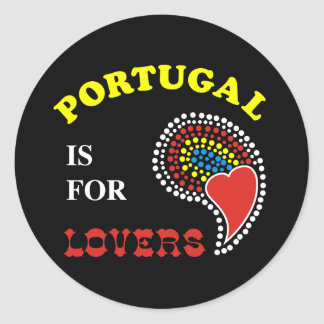 Portugal Is For Lovers Classic Round Sticker