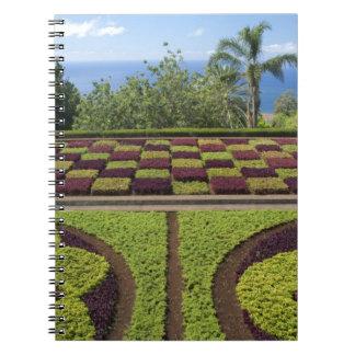 Portugal, isla de Madeira, Funchal. Botánico Spiral Notebook