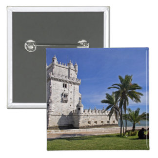 Portugal, Lisbon. Belem Tower, a UNESCO World 2 2 Inch Square Button
