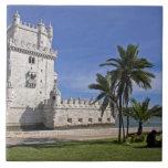 Portugal, Lisbon. Belem Tower, a UNESCO World 2 Tile