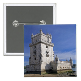 Portugal, Lisbon. Belem Tower, a UNESCO World 2 Inch Square Button