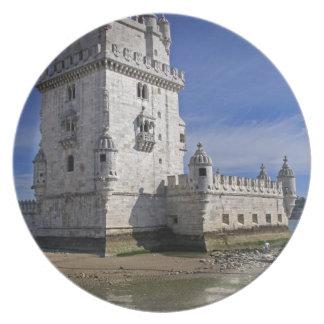 Portugal, Lisbon. Belem Tower, a UNESCO World Dinner Plate