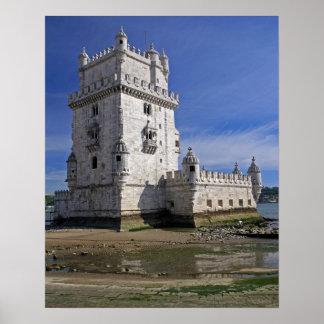 Portugal, Lisbon. Belem Tower, a UNESCO World Poster