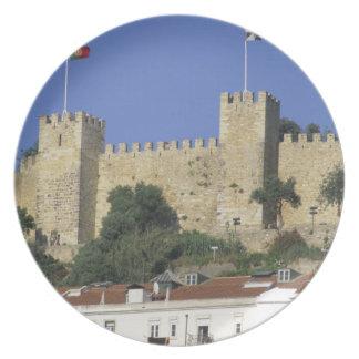Portugal, Lisbon. Castelo de Sao Jorge. Melamine Plate