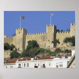 Portugal, Lisbon. Castelo de Sao Jorge. Poster