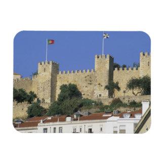 Portugal, Lisbon. Castelo de Sao Jorge. Rectangular Photo Magnet