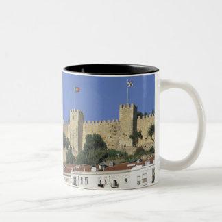 Portugal, Lisbon. Castelo de Sao Jorge. Two-Tone Coffee Mug