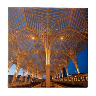 Portugal, Lisbon. View Of Modern Station Tile