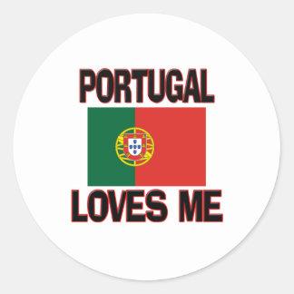 Portugal Loves Me Round Sticker