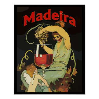 Portugal Madeira Grapes, Wine Poster