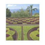 Portugal, Madeira Island, Funchal. Botanical Memo Pad