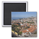 Portugal, Madeira Island, Funchal. Cable car 2 Inch Square Magnet