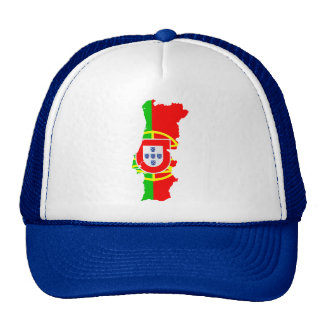Portugal map and flag - Hat