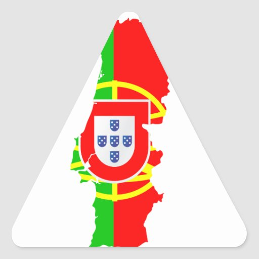 portugal map and flag - sticker