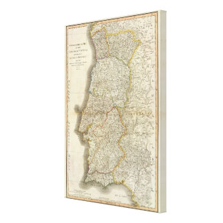 Portugal Map Gallery Wrap Canvas