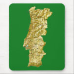 Portugal Map Mousepad