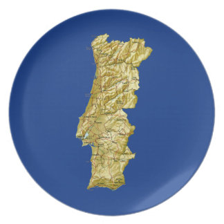Portugal Map Plate
