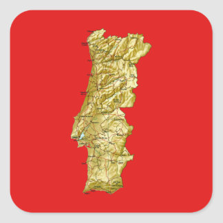 Portugal Map Sticker