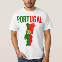 Portugal National Map T Shirt