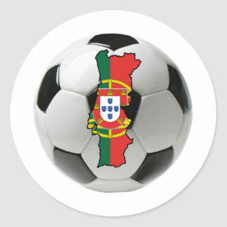 Portugal national team classic round sticker