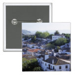 Portugal, Obidos. Elevated view of whitewashed Button