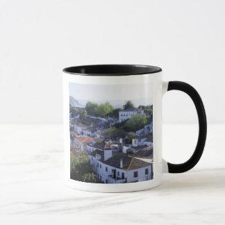 Portugal, Obidos. Elevated view of whitewashed Mug