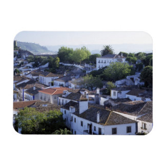Portugal, Obidos. Elevated view of whitewashed Vinyl Magnets