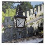 Portugal, Obidos. Farola y 14ta del hierro Azulejos