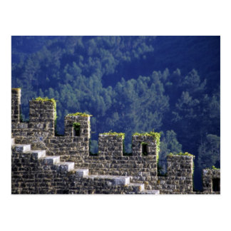 Portugal, Obidos. Steps by crenellated walls Postcard