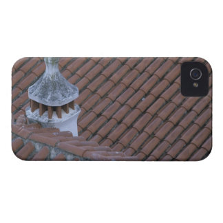 Portugal, Obidos. Tejado de la chimenea y de teja  iPhone 4 Protector