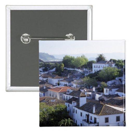 Portugal, Obidos. Vista elevada de blanqueado Pin
