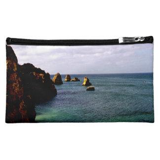 Portugal Ocean - Teal & Azure Paradise Cosmetics Bags
