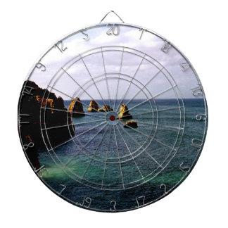 Portugal Ocean - Teal & Azure Paradise Dart Board