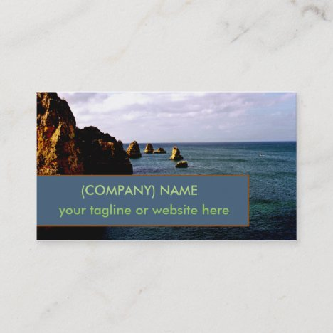 Portugal Ocean, Teal Azure Paradise Oceanscape Business Card