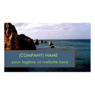 Portugal Ocean, Teal Azure Paradise Oceanscape Double-Sided Standard Business Cards (Pack Of 100)