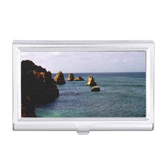 Portugal Ocean, Teal & Azure Paradise Sea Business Card Case