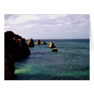Portugal Ocean, Teal & Azure Paradise Sea Card