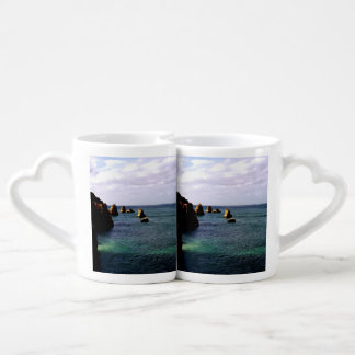 Portugal Ocean, Teal & Azure Paradise Sea Coffee Mug Set