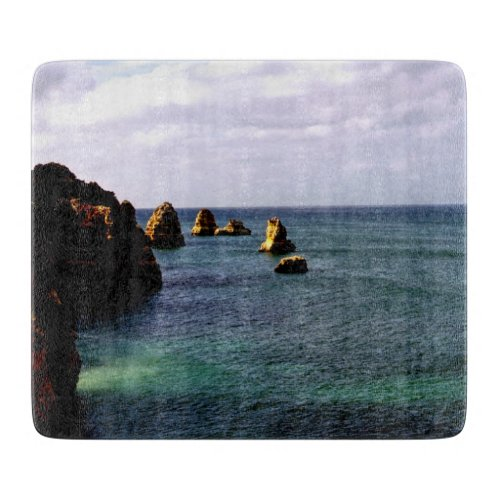 Portugal Ocean, Teal & Azure Paradise Sea Cutting Board