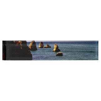 Portugal Ocean, Teal & Azure Paradise Sea Desk Name Plate