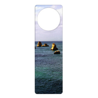 Portugal Ocean, Teal & Azure Paradise Sea Door Hanger