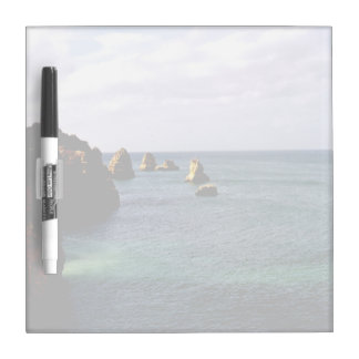 Portugal Ocean, Teal & Azure Paradise Sea Dry Erase White Board