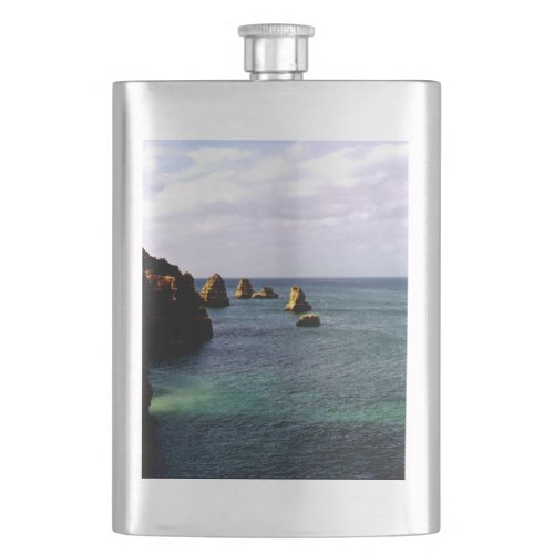 Portugal Ocean, Teal & Azure Paradise Sea Flask