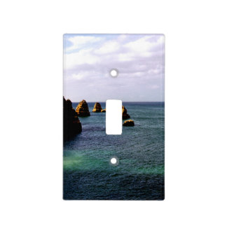 Portugal Ocean, Teal & Azure Paradise Sea Light Switch Cover