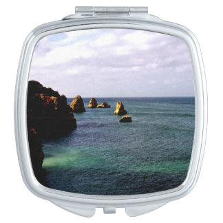 Portugal Ocean, Teal & Azure Paradise Sea Mirror For Makeup
